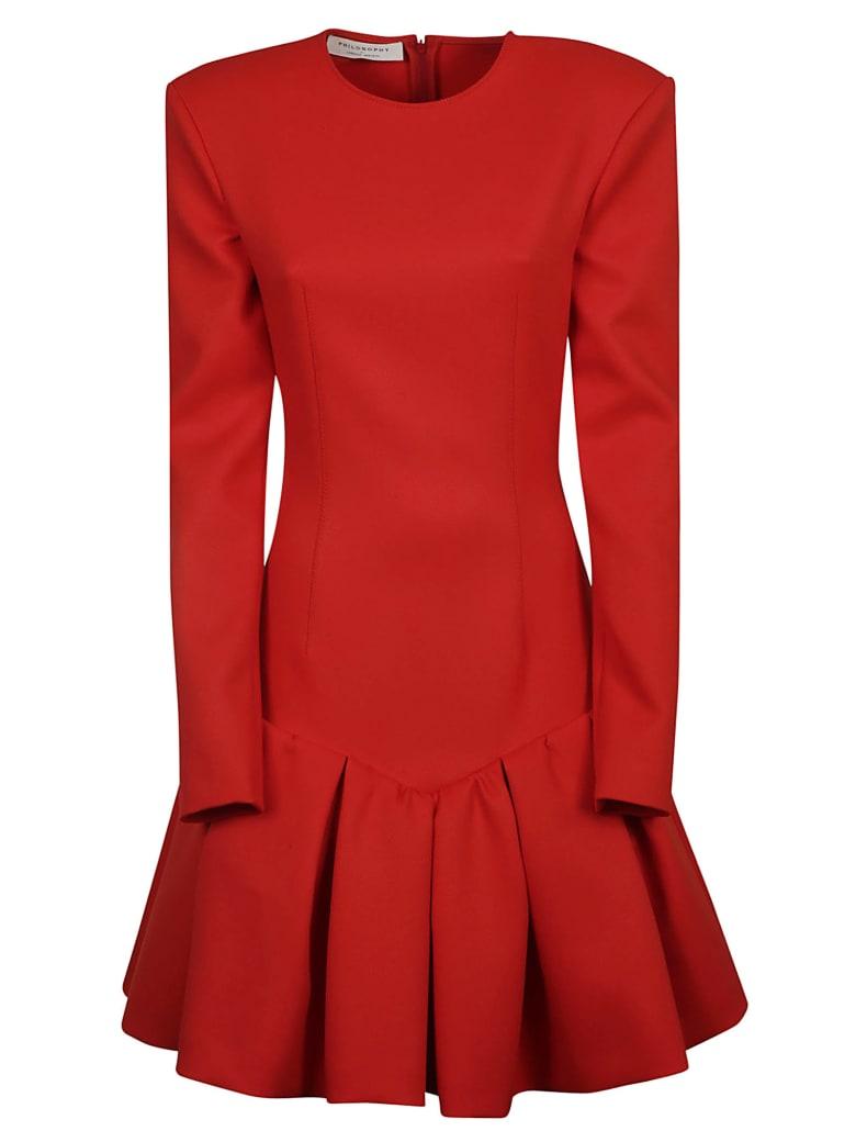 Philosophy di Lorenzo Serafini Long-sleeved Dress - Red