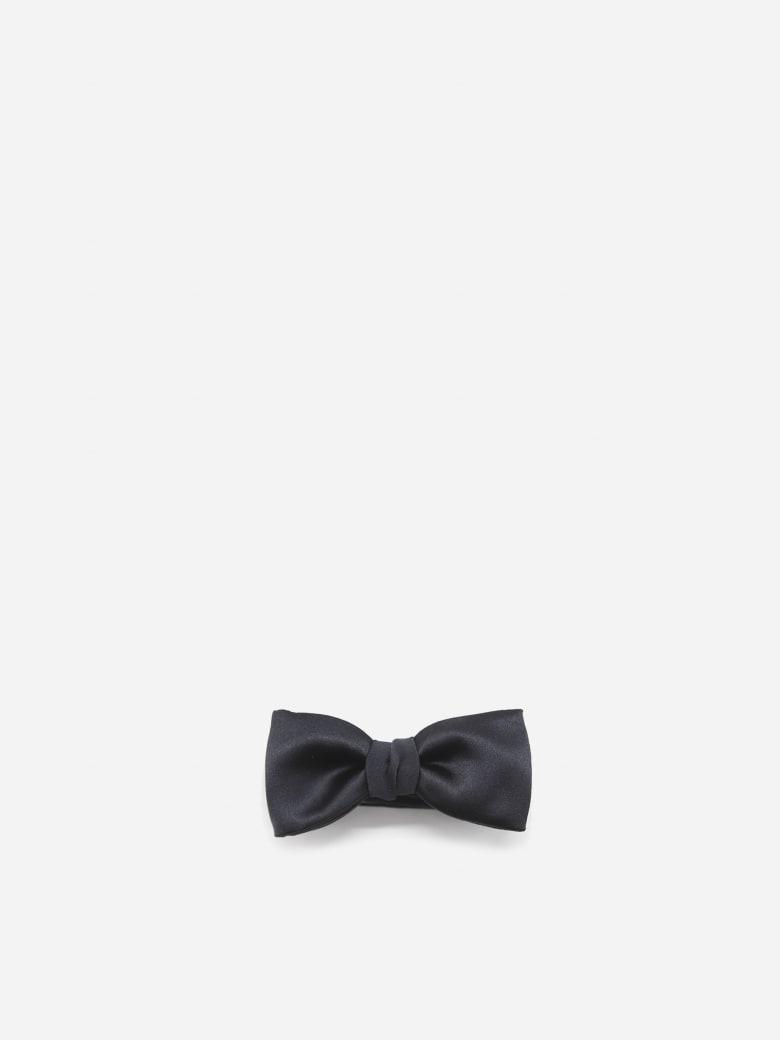 Lanvin Monochrome Bow Tie Made Of Silk - Blu