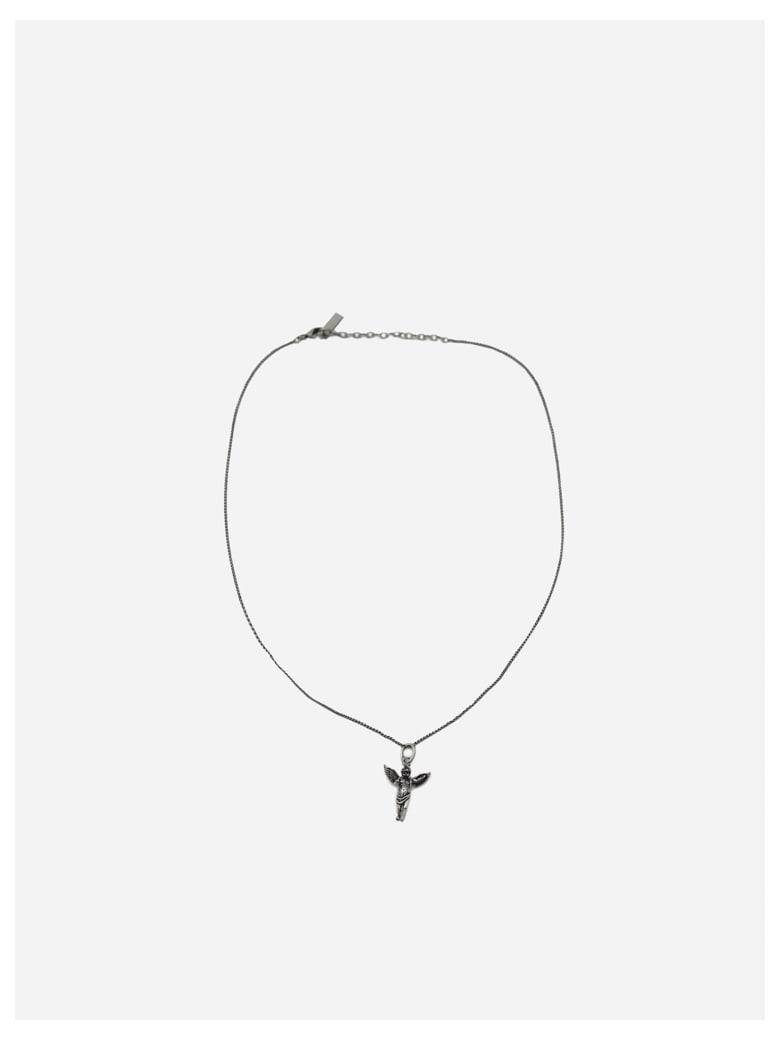 Saint Laurent Necklace With Brass Pendant - Silver