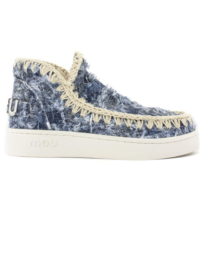 Mou Denim Patchwork Sneakers - Denim