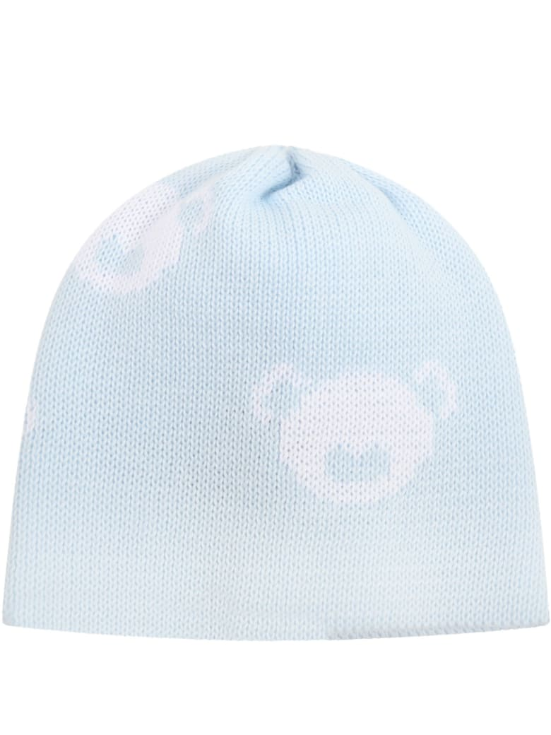 Little Bear Light Blue Hat For Babyboy - Light Blue
