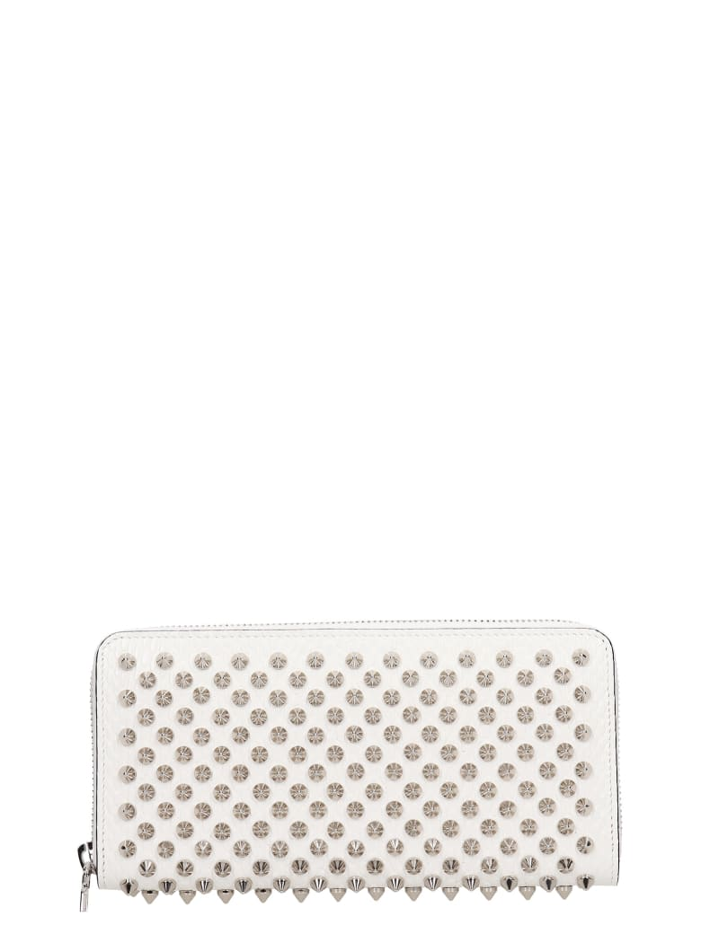 Christian Louboutin Panettone Wallet In White Leather - white
