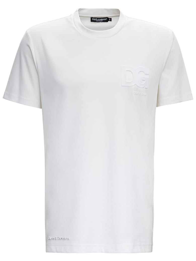Dolce & Gabbana White Cotton T-shirt With Logo