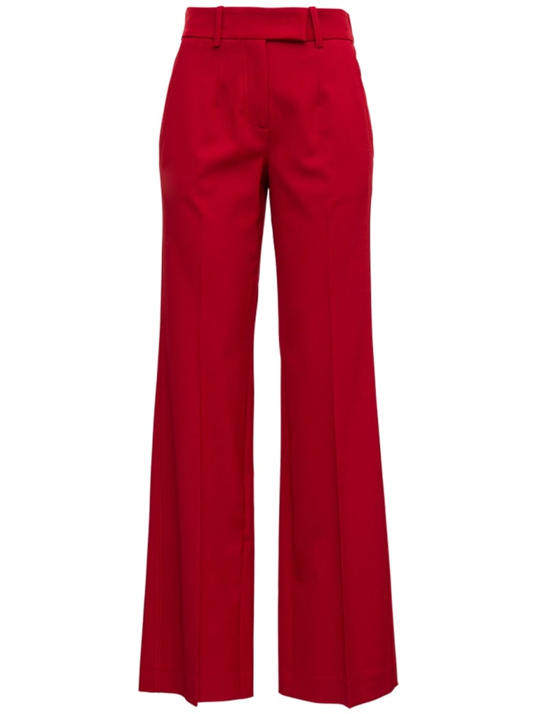 Tela Red Pants In Wool Blend - Red