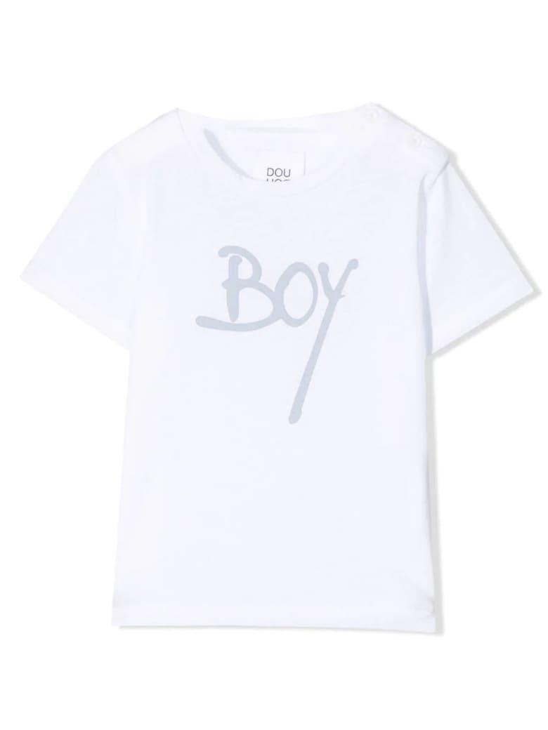 Douuod White Cotton T-shirt - Bianco