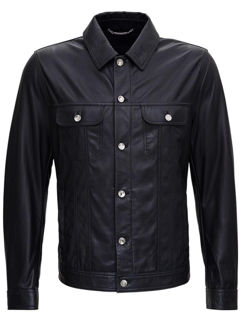 Dolce & Gabbana Black Leather Jacket - Nero
