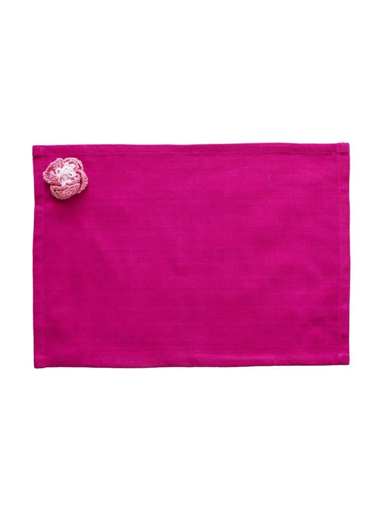 Le Botteghe su Gologone Placemats Crochet 35x45 Cm - Fuchsia