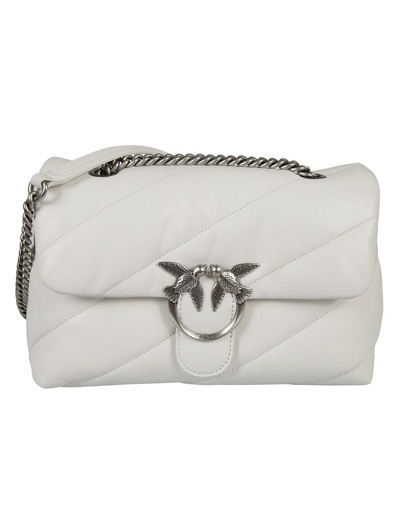 Pinko Love Classic Puff Shoulder Bag - White