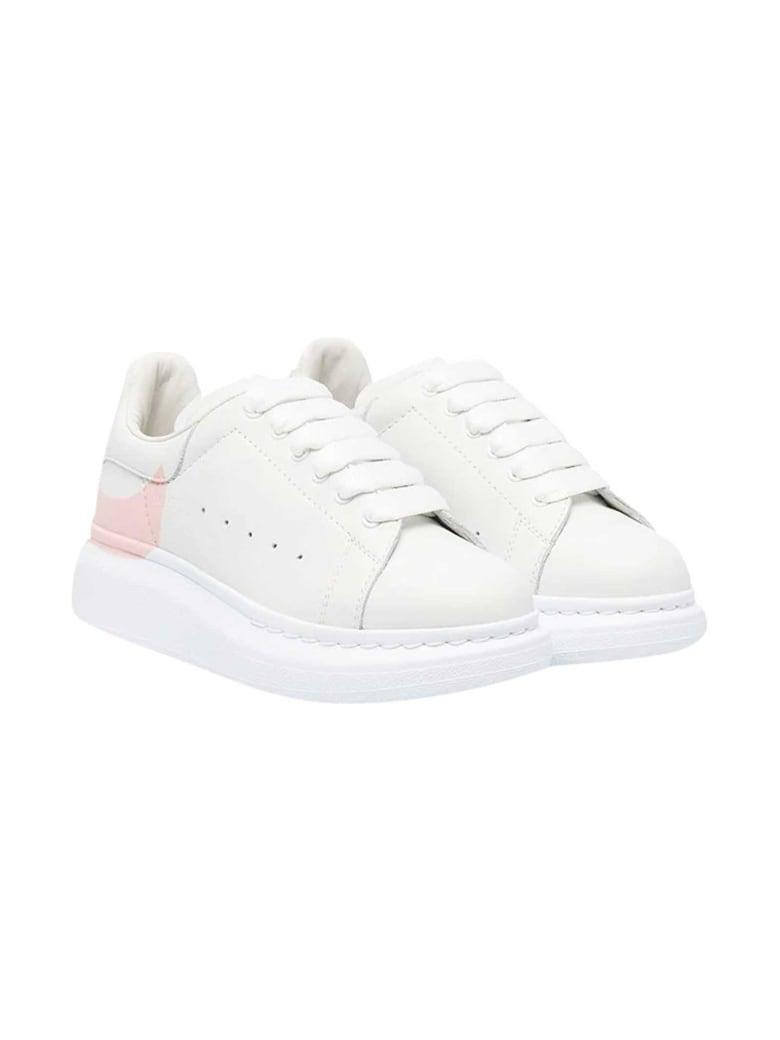 Alexander McQueen White Sneakers Kids - Bianco/rosa