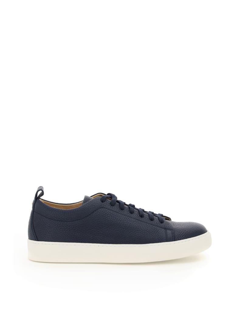 Henderson Baracco Connor Leather Sneakers - BLU (Blue)