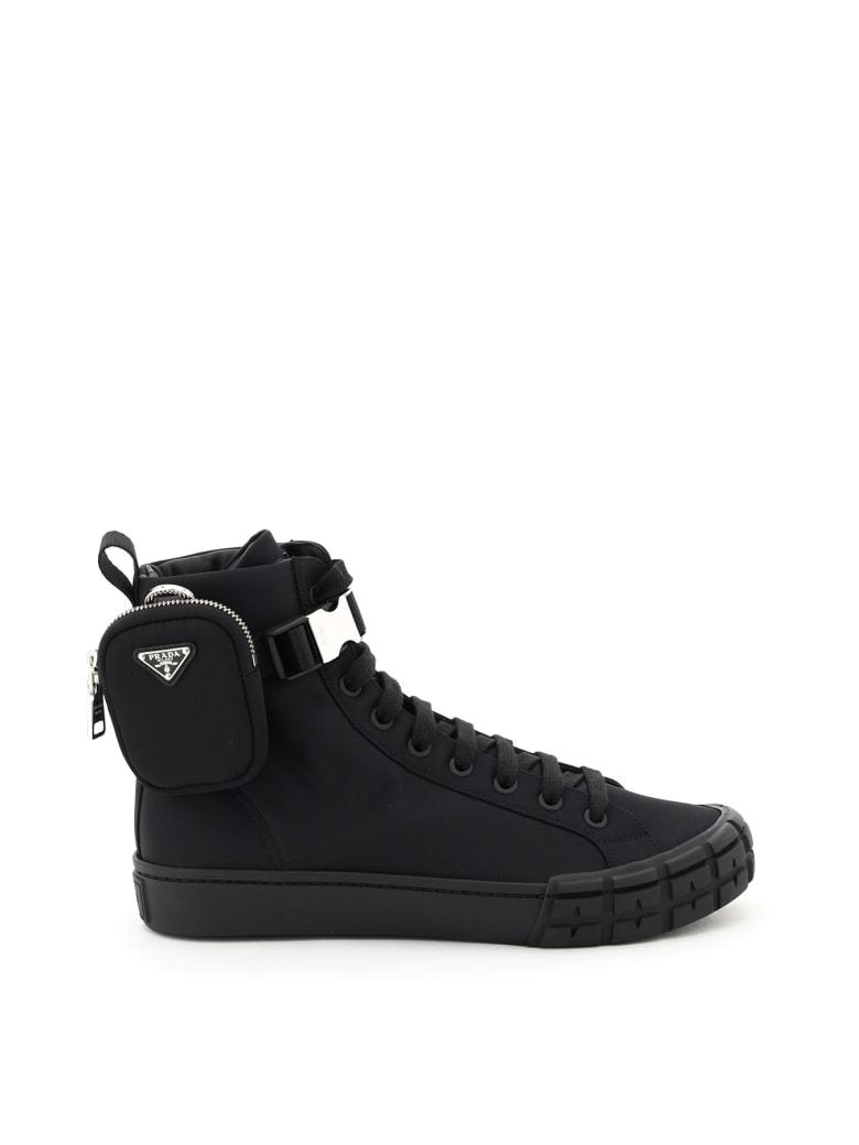 Prada Wheel Hi-top Re-nylon Sneakers