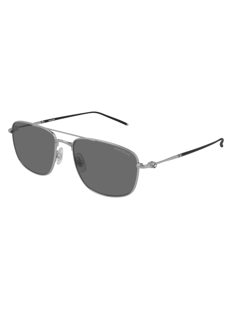 Montblanc MB0127S Sunglasses - Silver Silver Grey