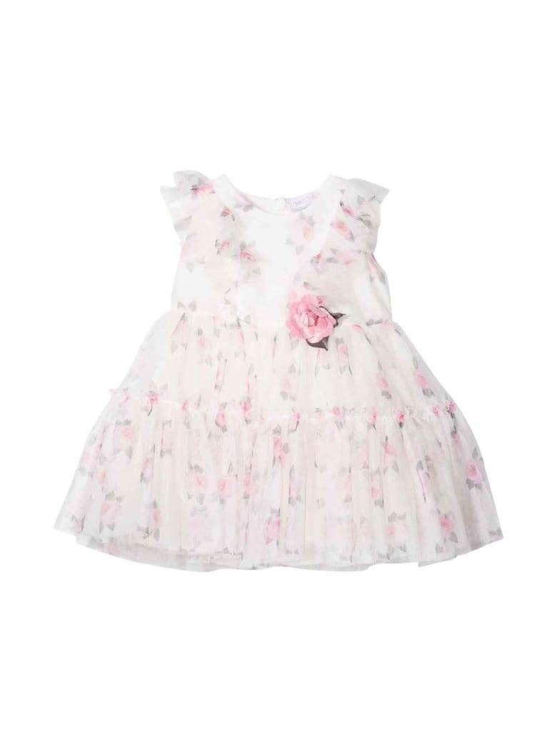 Monnalisa Newborn Floral Dress - Beige