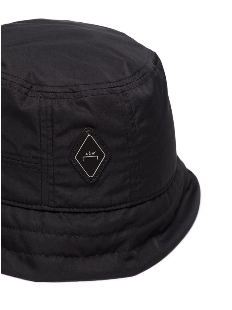 A-COLD-WALL Black Nylon Bucket Hat With Logo - Black