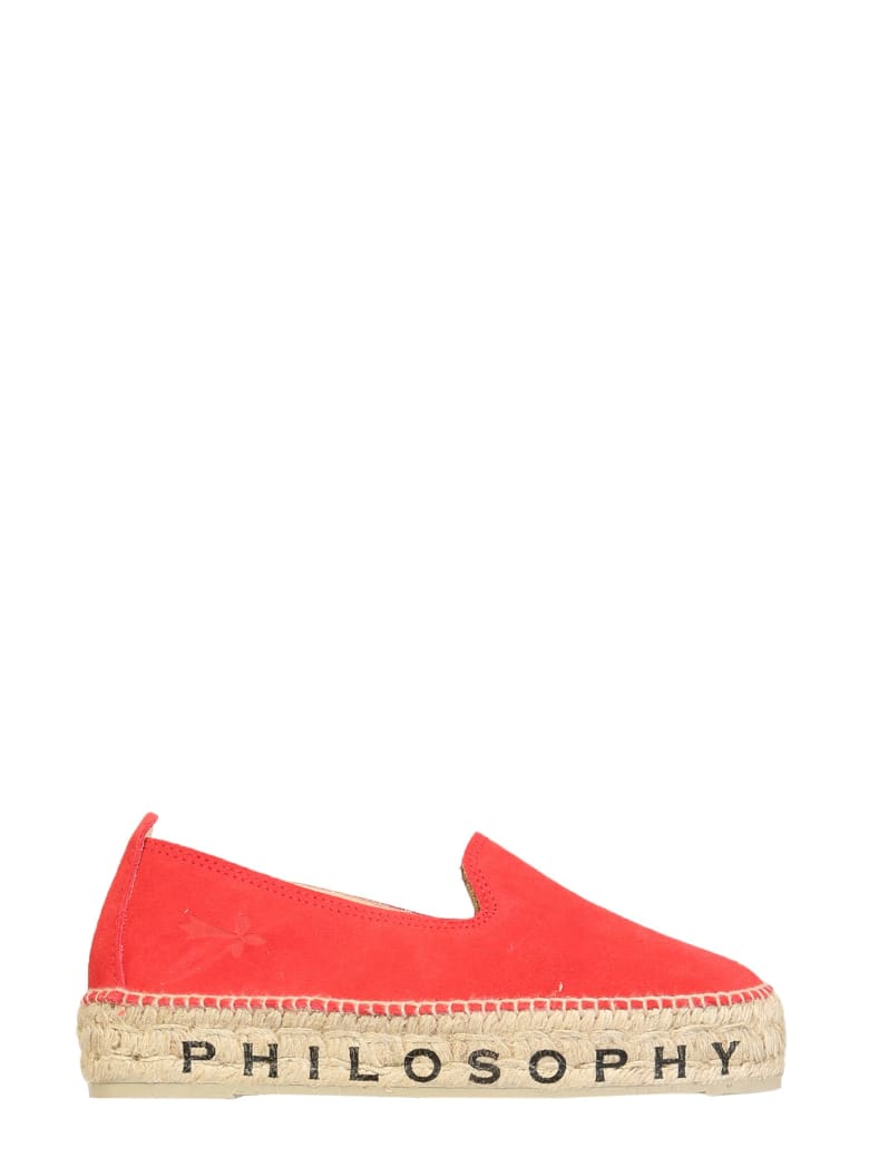 Philosophy x Manebí Espadrilles With Logo - ROSSO