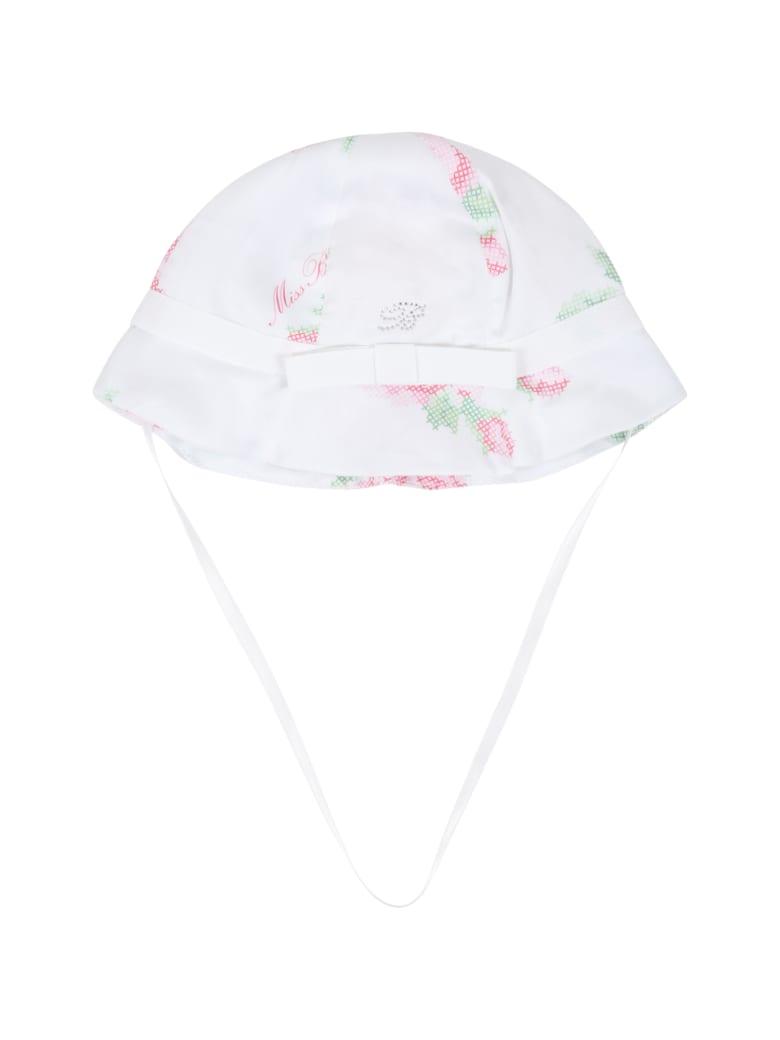 Blumarine White Sun Hat For Babygirl - White