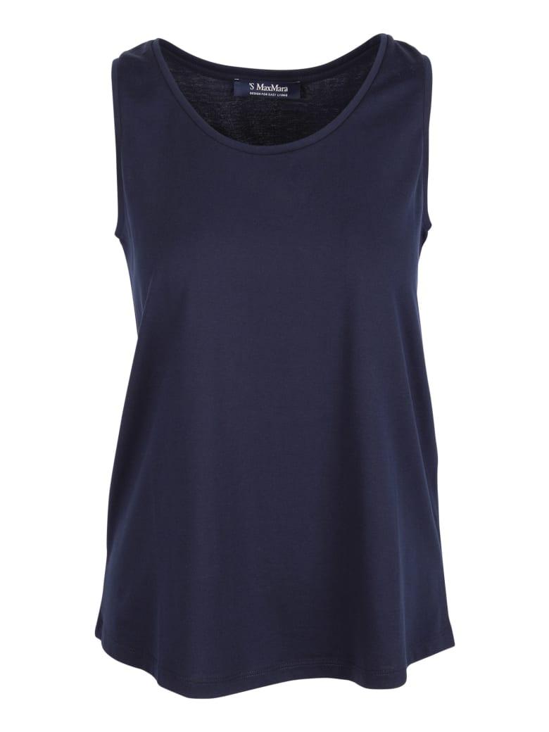 'S Max Mara 'chopin' Cotton Tank Top - Blue