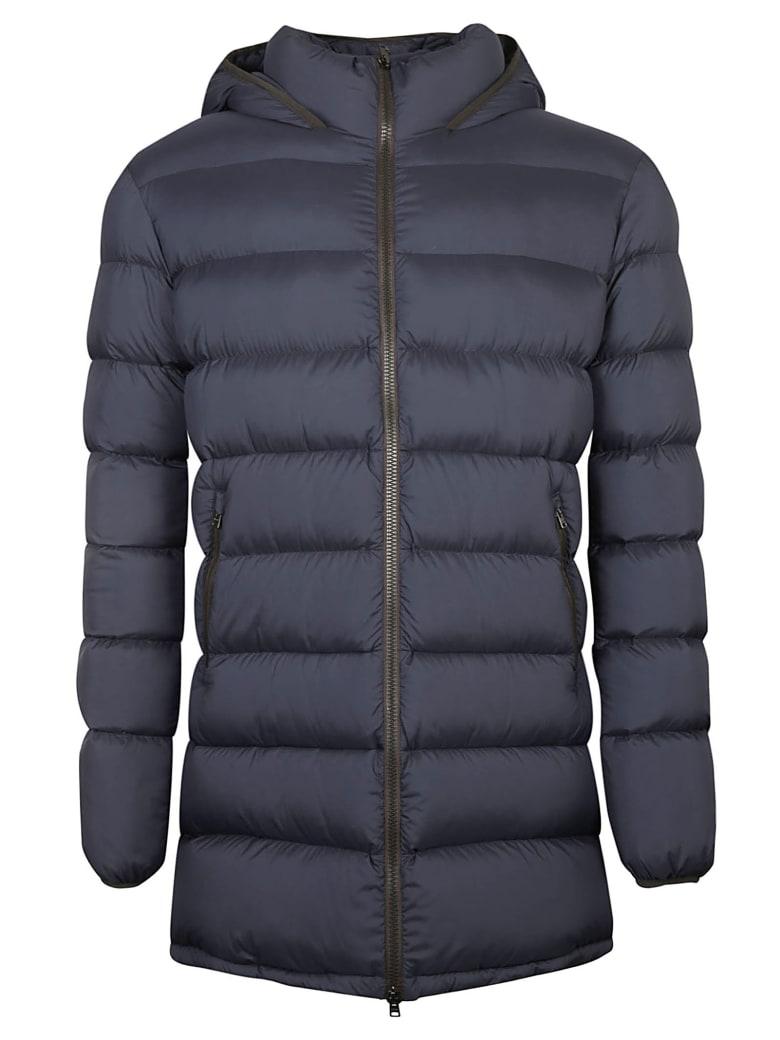 Herno Side Zip Pocket Padded Jacket - Navy