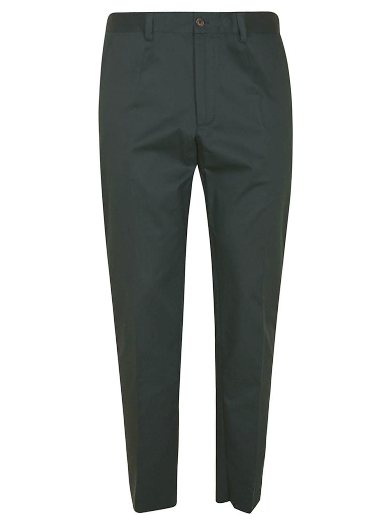 Dolce & Gabbana Regular Plain Trousers - Verde