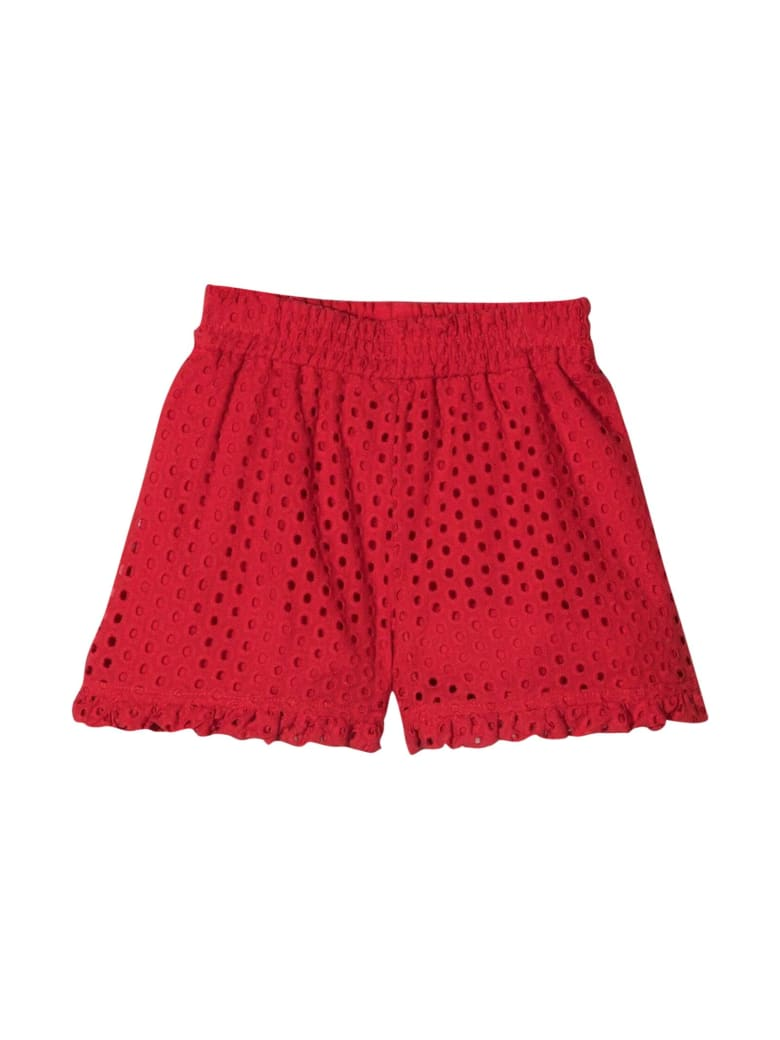 Monnalisa Red Shorts - Rosso