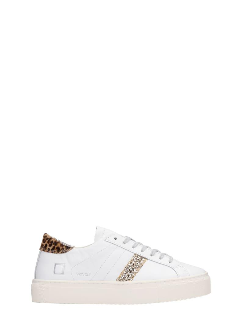 D.A.T.E. Vertigo Sneakers In White Leather - white