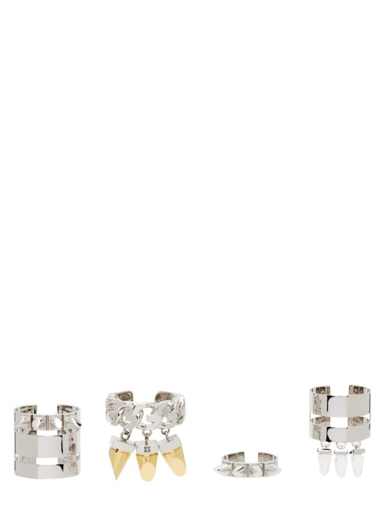 Givenchy G Stud Ring Set - ORO/ARGENTO