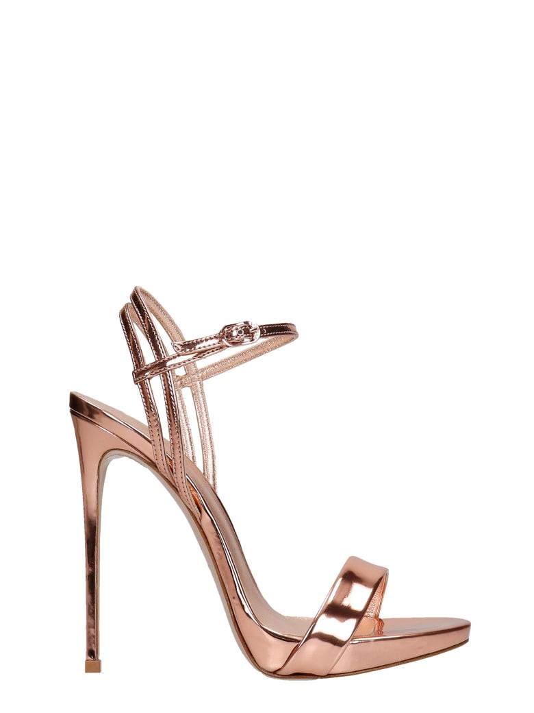 Le Silla Gwen Sandals In Copper Leather - copper
