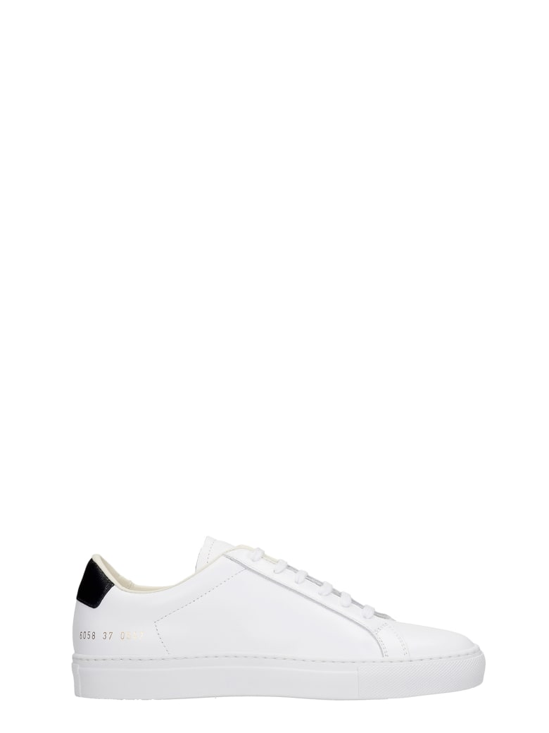 Common Projects Low Sneakers In White Leather - white