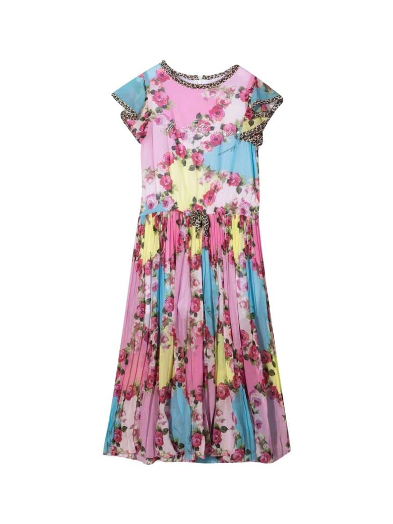 Miss Blumarine Long Dress With Flowers - Unico