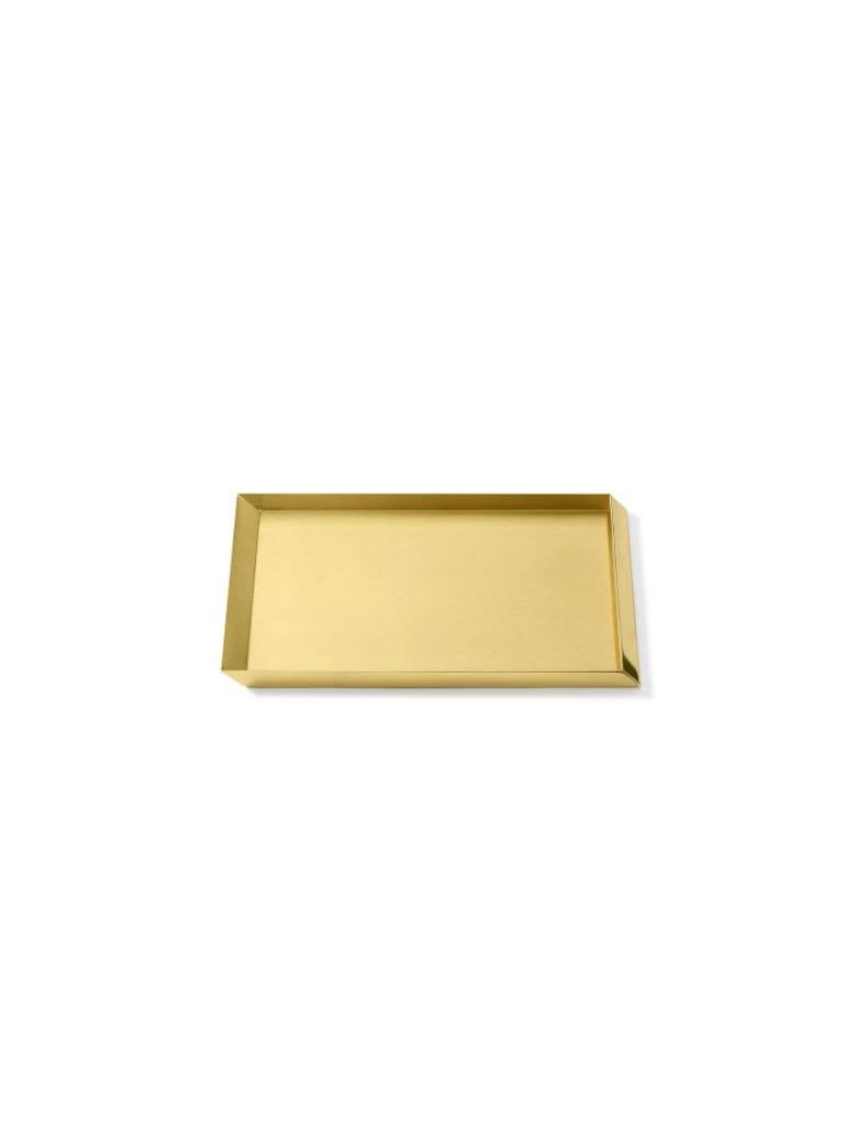 Ghidini 1961 Axonometry - A4 Tray Polished Brass - Polished brass