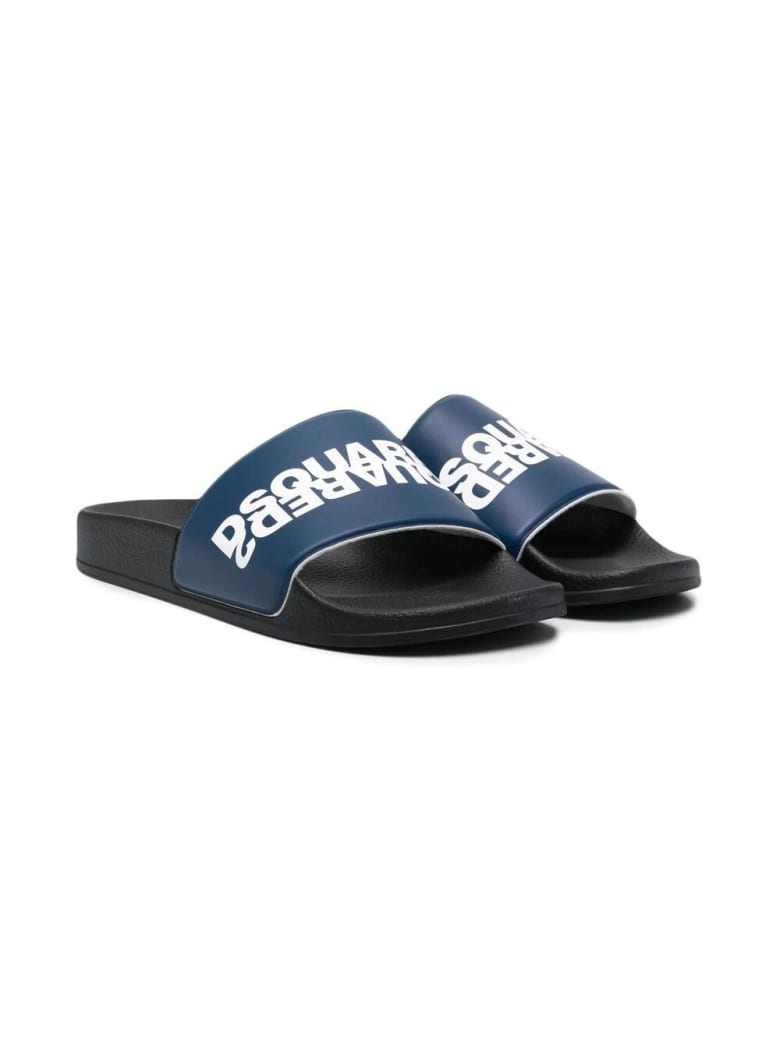 Dsquared2 Slippers With Print - Blue