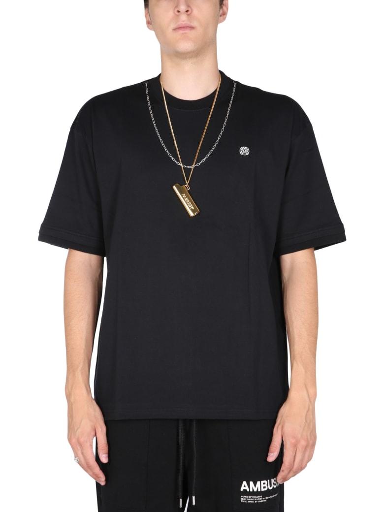 AMBUSH T-shirt With Iconic Chain - BLACK TOFU