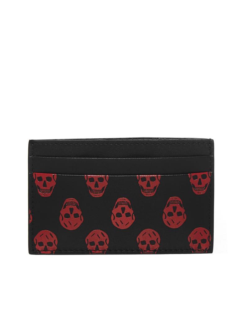 Alexander McQueen Wallet - Black lust red