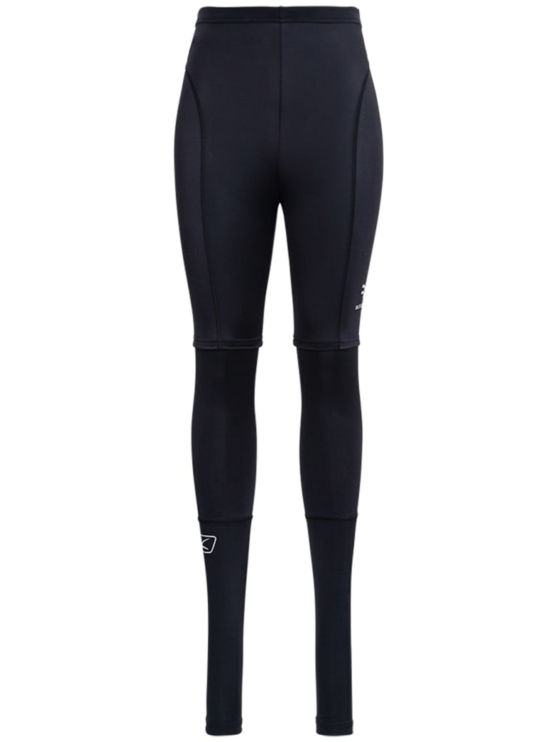 Balenciaga Trompe L'oeil Leggings In Stretch Fabric - Black