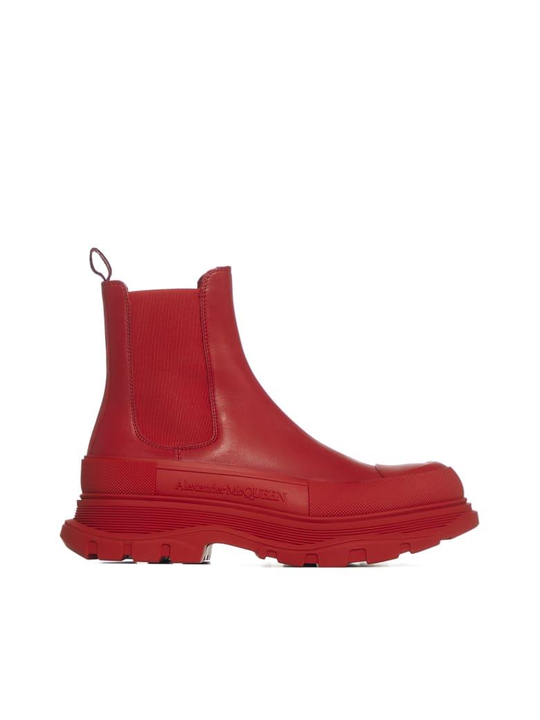 Alexander McQueen Boots - Welsh red silver