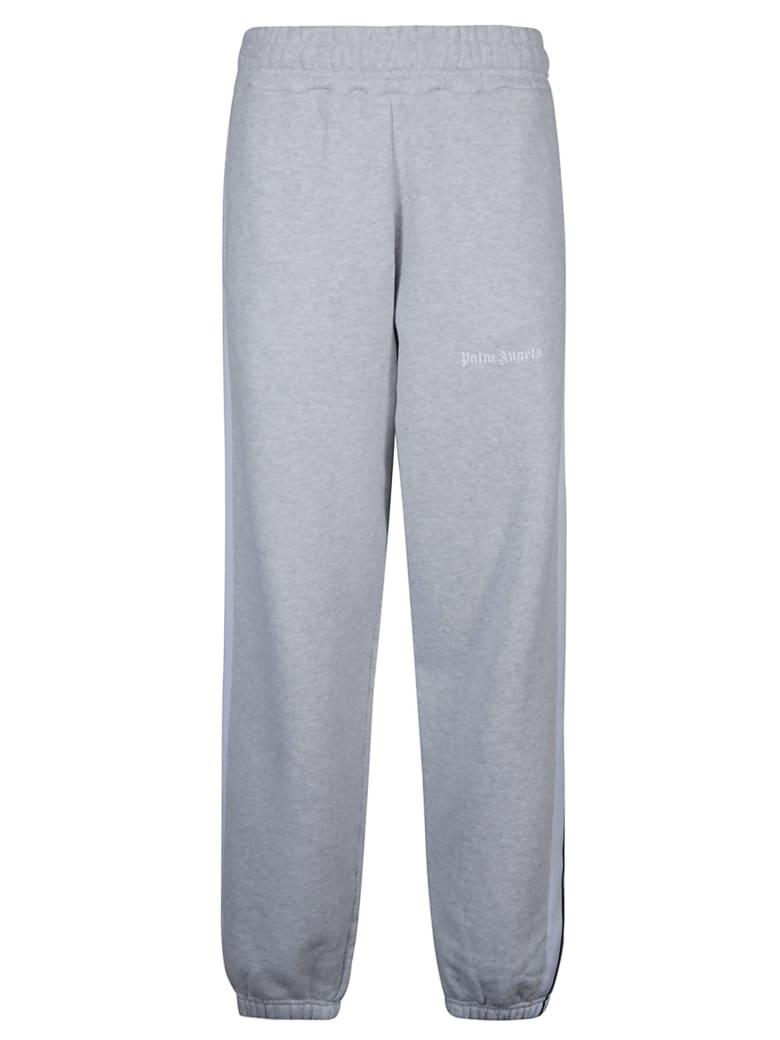 Palm Angels Logo Track Pants - Grey Mélange/White
