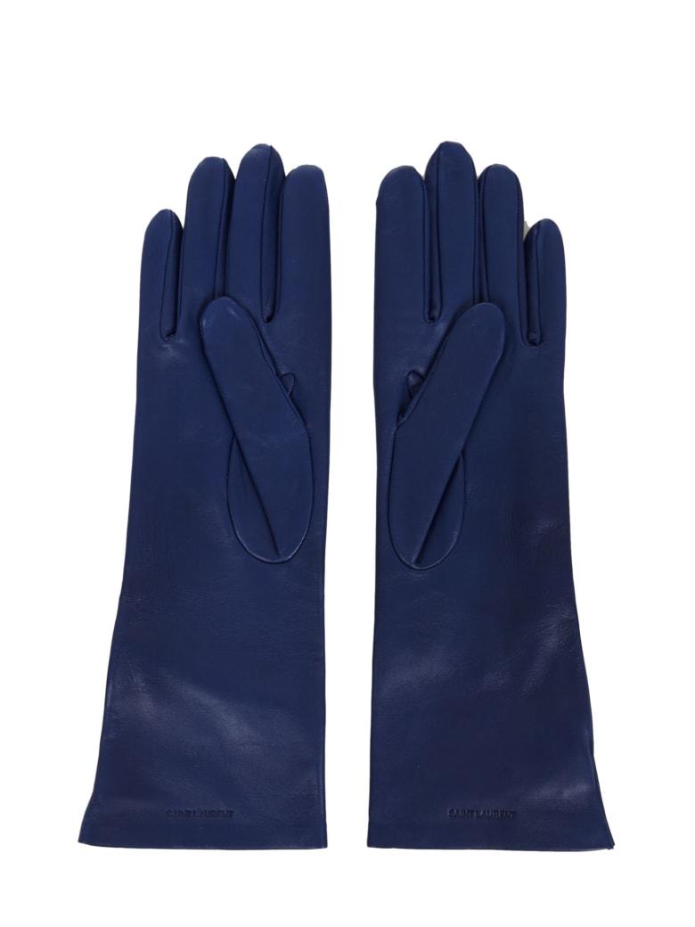 Saint Laurent Gloves - Blue