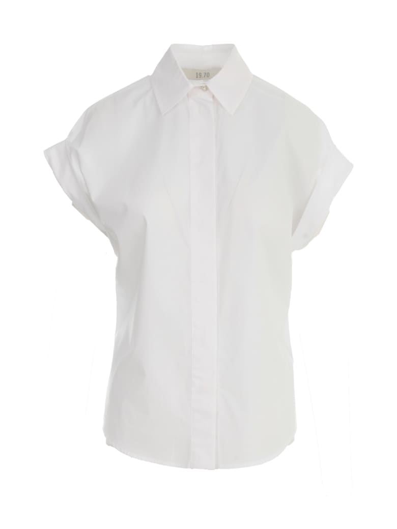19.70 Nineteen Seventy S/s Shirt - White