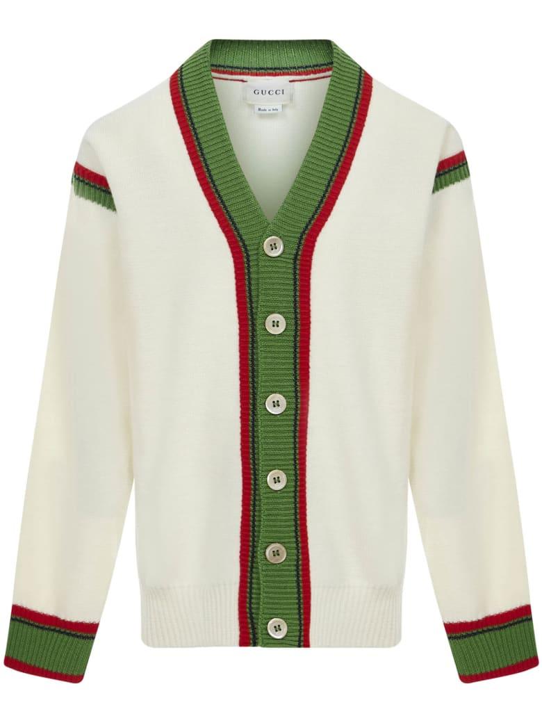 Gucci Junior Cardigan - White