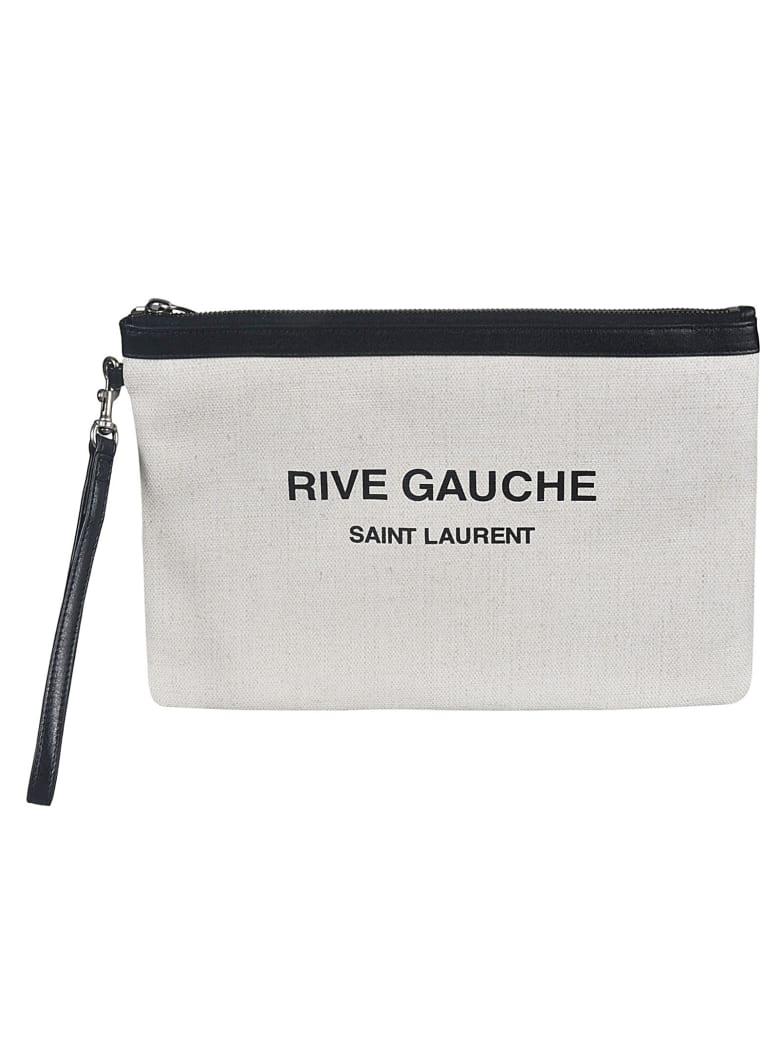 Saint Laurent RIVE GAUCHE Clutch - White