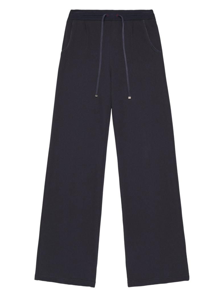 Kiton Trousers Cotton - NAVY BLUE