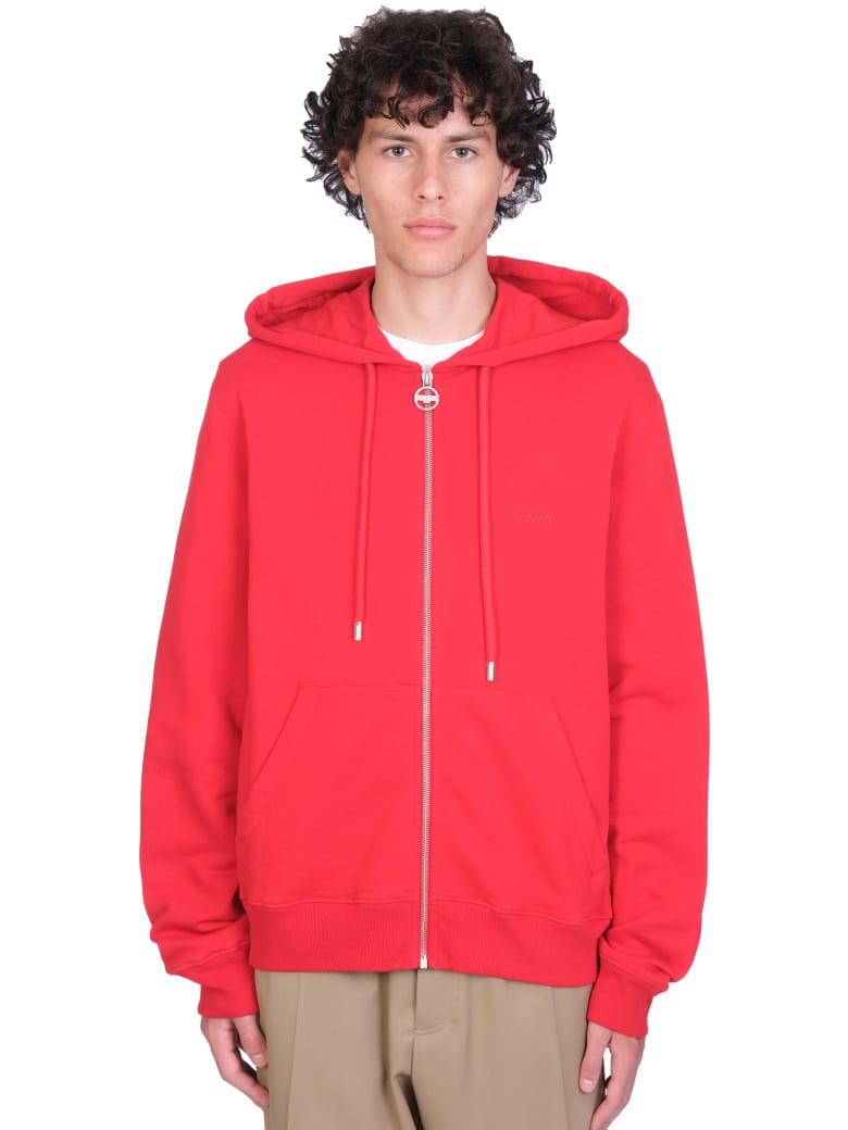 Lanvin Sweatshirt In Red Cotton - red