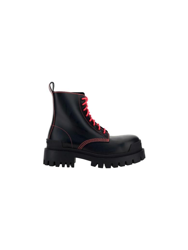 Balenciaga Boots - Black/fluo pink