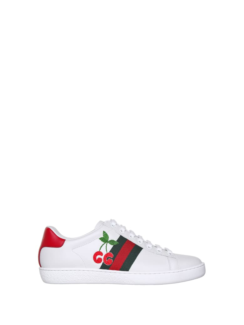 Gucci Gucci Ace With Cherries - BIANCO VRV RED