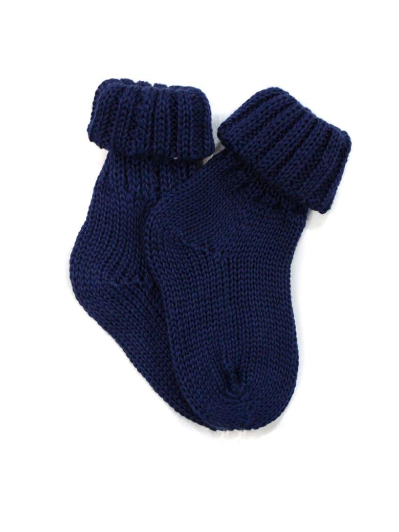 Little Bear Blue Cotton Socks - Blu