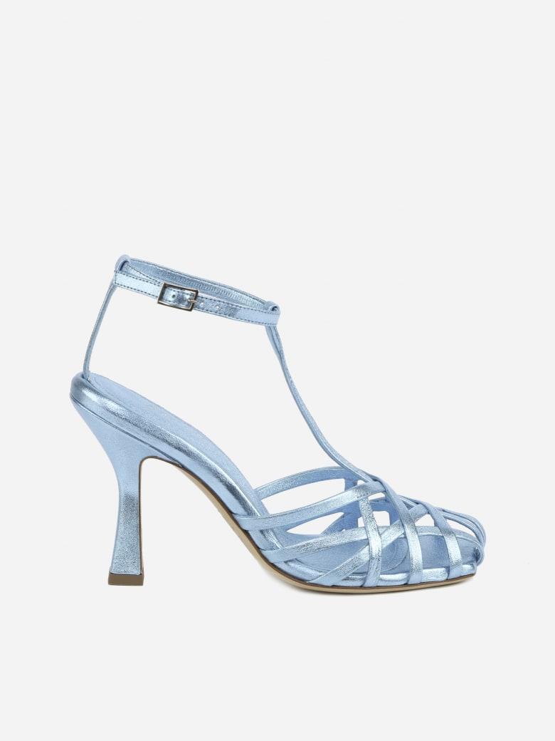 Aldo Castagna Lidia Sandals Made Of Leather - Light blue