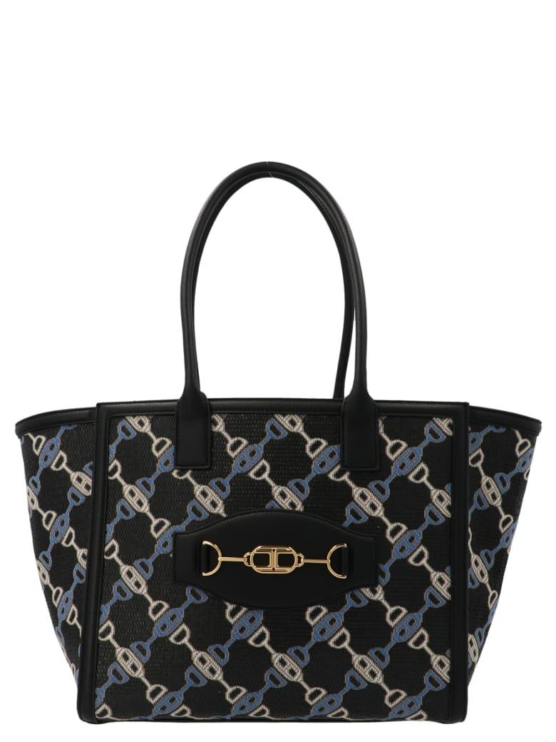 Elisabetta Franchi 'chain' Bag - Black