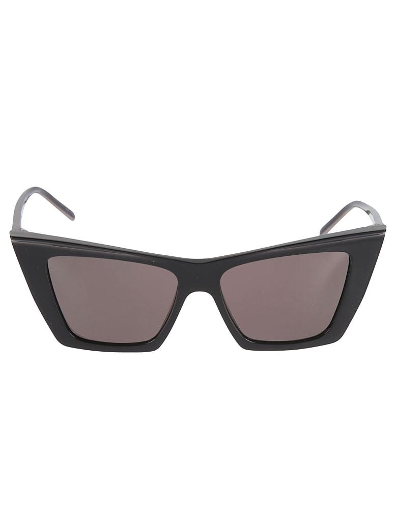Saint Laurent Side Logo Sunglasses - Black