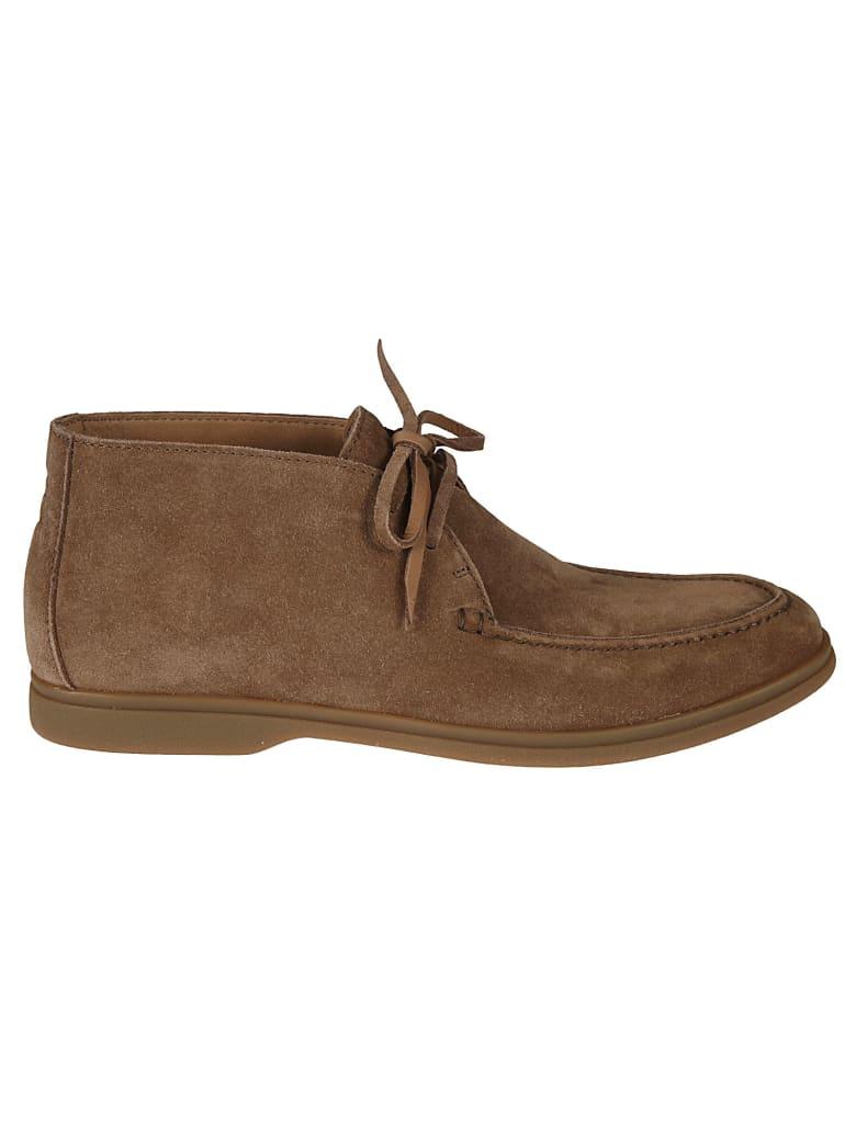 Brunello Cucinelli Lace-up Ankle Boots - Fango