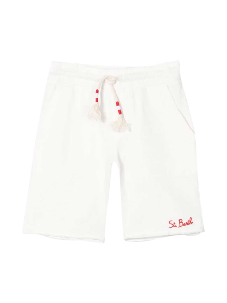 MC2 Saint Barth White Sports Shorts - Bianco